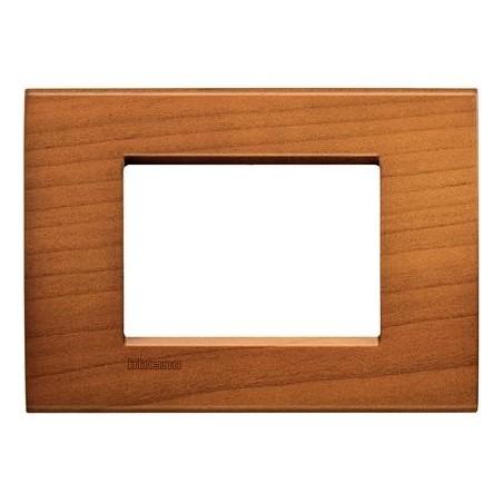 Placa Rectangular 3 Módulos LNA4803LCA Cerezo BTicino Livinglight
