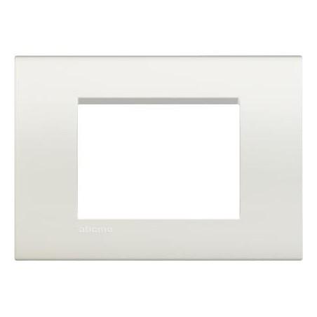 Placa Rectangular 3 Módulos Blanca BTicino Livinglight LNA4803BI