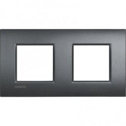 Placa 2 Ventanas Antracita LNE4802M2AR Bticino Livinglight AIR