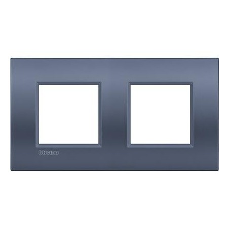 Placa 2 Ventanas LNE4802M2BM Bticino Livinglight AIR Blue moon