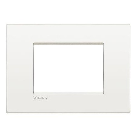 Placa rectangular 3 Módulos Blanco LNC4803BN Bticino Livinglight AIR