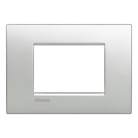 Placa rectangular 3 Módulos LNC4803TE Livinglight AIR BTicino Tech