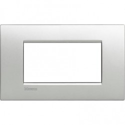 Placa rectangular 4 Módulos Bticino LNC4804TE Tech Livinglight Air