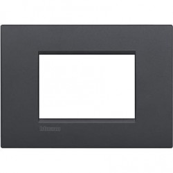 Placa rectangular Bticino 3 Módulos Antracita LNC4803AR Livinglight AIR
