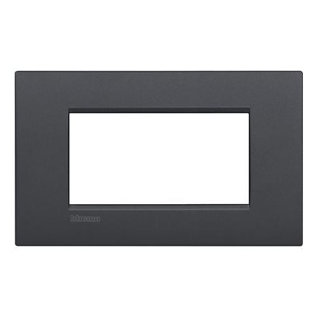 Placa rectangular 4 Módulos LNC4804AR Antracita Bticino Livinglight Air