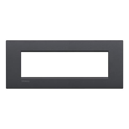 Placa rectangular 7 Módulos LNC4807AR Bticino Livinglight AIR Antracita