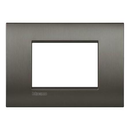 Placa rectangular 3 Módulos LNC4803NIS Niquel BTicino Livinglight AIR