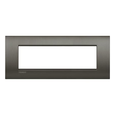 Placa rectangular LNC4807NIS 7 Módulos Niquel Bticino Livinglight AIR