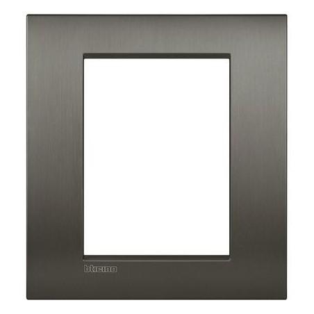 Placa rectangular 3+3 Módulos Niquel LNC4826NIS Livinglight AIR