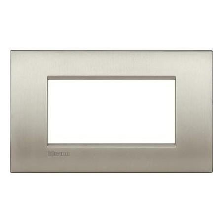 Placa rectangular 4 Módulos Bticino Livinglight Air LNC4804TIS Titanio