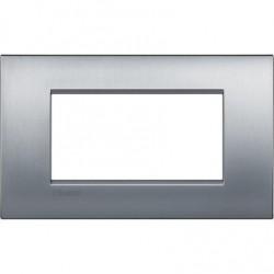 Placa rectangular 4 Módulos Bticino Livinglight Air LNC4804CRS Cromo