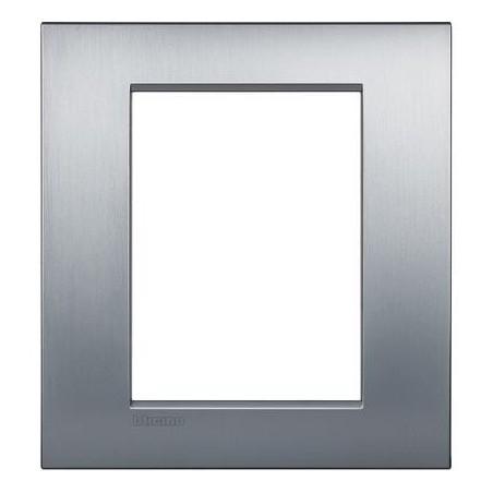 Placa rectangular 3+3 Módulos Cromo LNC4826CRS Bticino Livinglight AIR