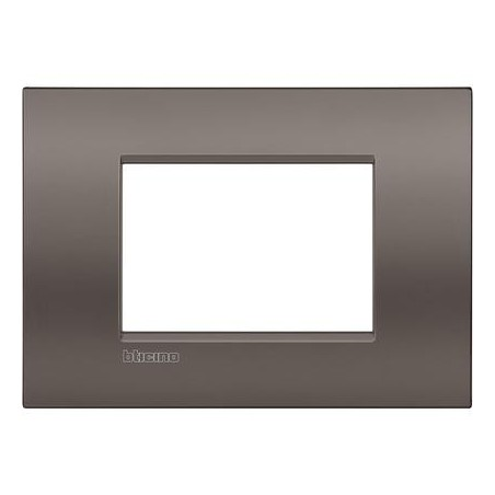 Placa rectangular 3 Módulos LNC4803CY Arcilla BTicino Livinglight AIR