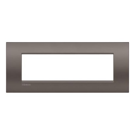 Placa rectangular 7 Módulos LNC4807CY Bticino Livinglight AIR Arcilla