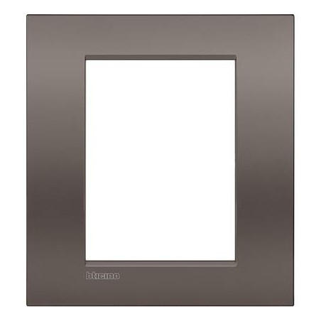 Placa rectangular 3+3 Módulos Arcilla LNC4826CY Bticino Livinglight AIR