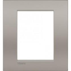 Placa rectangular 3+3 Módulos Arena LNC4826SB Bticino Livinglight AIR