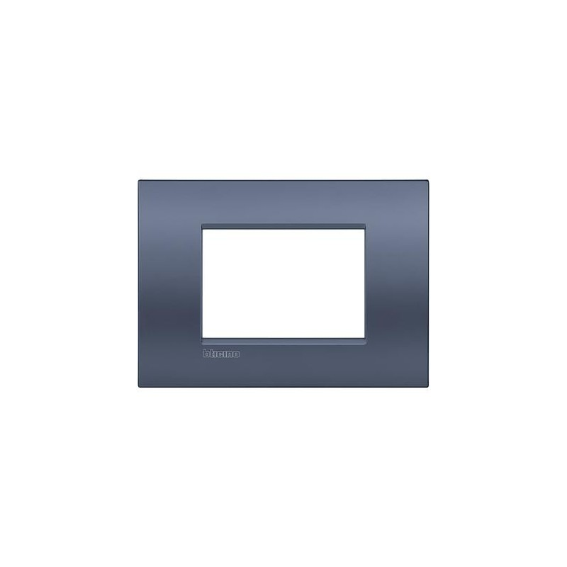 Placa rectangular Bticino 3 Módulos Blue moon LNC4803BM Livinglight AIR