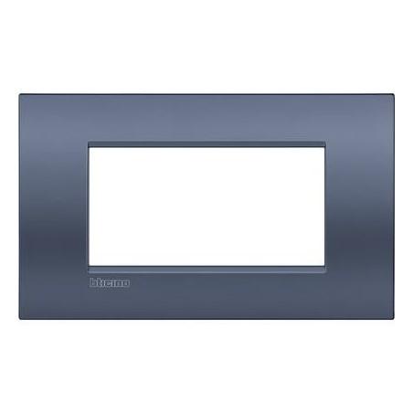 Placa rectangular 4 Módulos Bticino Livinglight Air LNC4804BM Blue moon