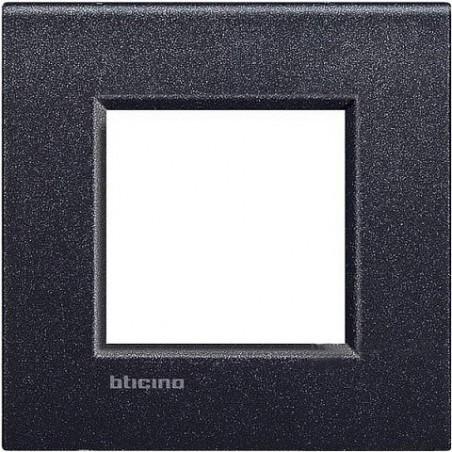 Placa 1 Ventana Negro Lava LNE4802NL BTicino Livinglight AIR