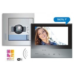 Kit Videoportero Tegui Monitor CLASSE300X13E Negro + Placa SFERA NEW 376171N