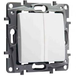 Doble Interruptor - Conmutador Blanco 664702 Legrand Niloé