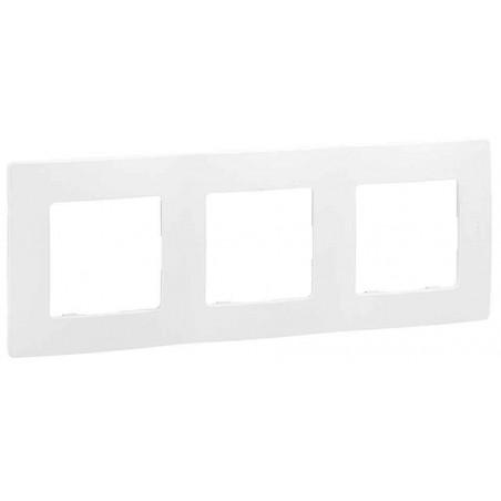 Placa Embellecedora 3 Elementos Blanco 665003 Legrand Niloé