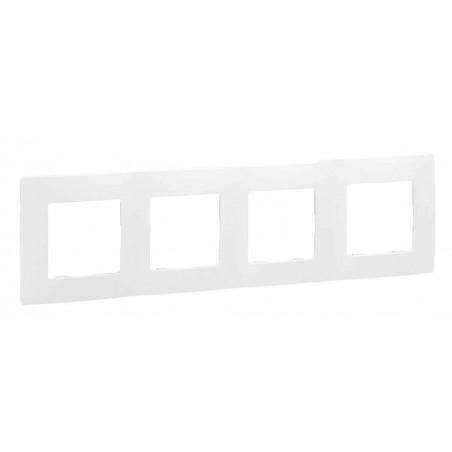Placa Embellecedora 4 Elementos Blanco 665004 Legrand Niloé