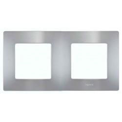 Placa Embellecedora Aluminio 2 Elementos 665062 Legrand Niloé