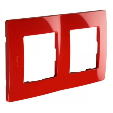 Placa Embellecedora 2 Elementos Rojo 665022 Legrand Niloé