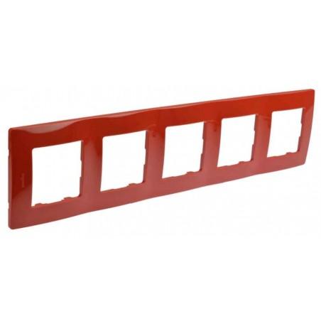 Placa Embellecedora 5 Elementos Rojo 665025 Legrand Niloé