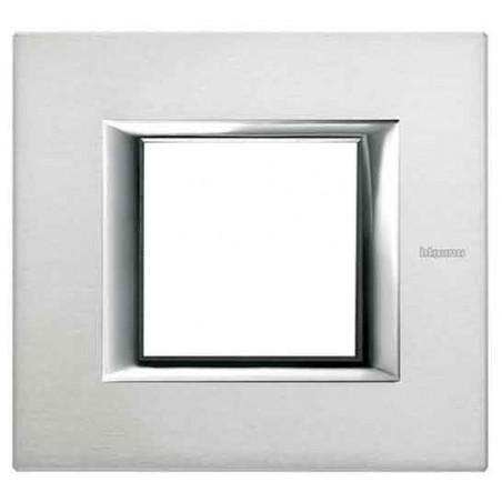 Placa 1 Ventana Aluminio Pulido HA4802XC Axolute BTicino