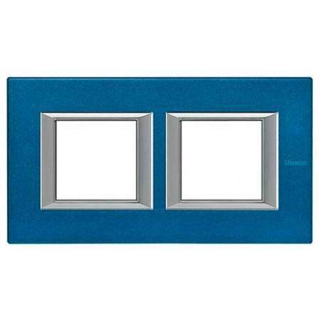 Placa 2 Ventanas Azul Meissen BTicino Axolute HA4802M2HBM