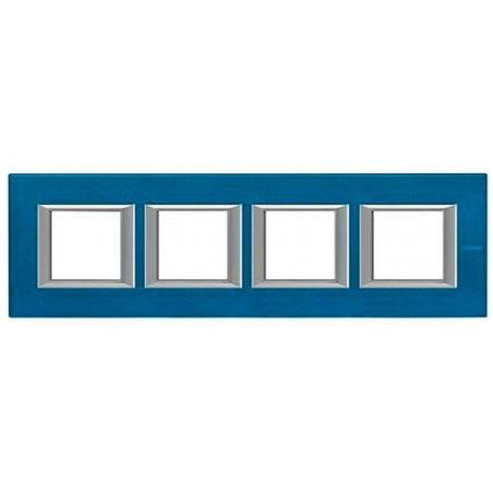 Placa 4 Ventanas Azul Meissen Bticino axolute HA4802M4HBM