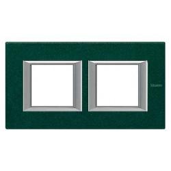 Placa 2 Ventanas Verde sevres Axolute HA4802M2HVS BTicino