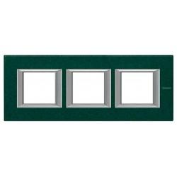 Placa BTicino Axolute 3 Ventanas HA4802M3HVS Verde Sevres