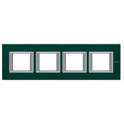 Placa 4 Ventanas Verde Sevres HA4802M4HVS Axolute