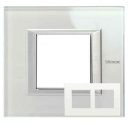 Placa 2 Ventanas Whice HA4802M2HVSW Axolute