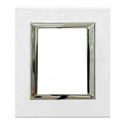 Placa Elíptica 3+3 Módulos Blanco Bticino Axolute HB4826HD