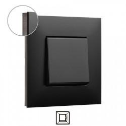 Placa 1 Elemento 741061 Dark Cromo oscuro Valena Next Legrand