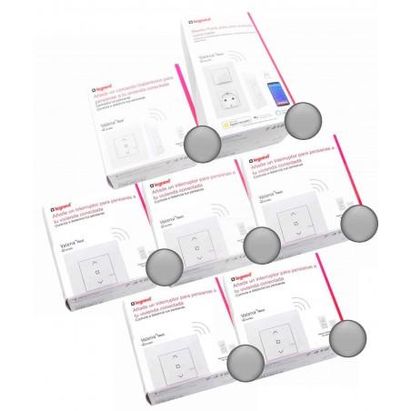 Pack Legrand Aluminio Centralización de 5 Persianas Valena Next Netatmo