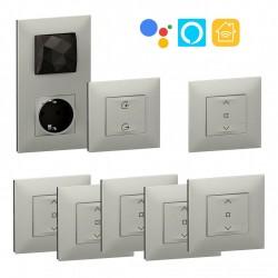 Pack Control Wifi 5 Persianas Legrand Valena Next Netatmo Aluminio