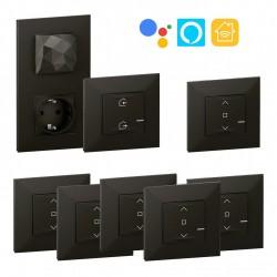 Kit Control remoto 5 Persianas Wifi Valena Next with Netatmo Dark