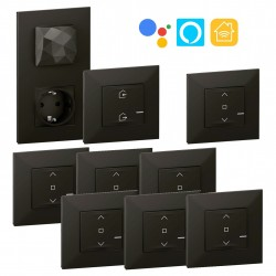 Pack 6 Persianas Inteligentes Valena Next with Netatmo Dark