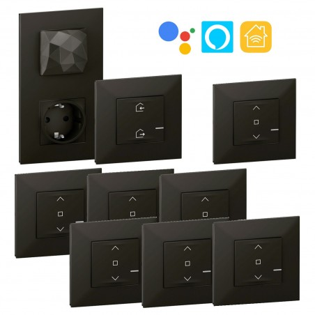 Pack Centralización 6 Persianas Legrand Valena Next with Netatmo Dark