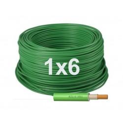 Manguera Eléctrica Verde Libre de Halógenos 1x6 RZ1-K 1000V