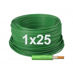 Manguera cable flexible Libre halógenos 1x25 Unipolar RZ1-K 0,6/1KV