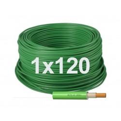 Manguera Unipolar Libre halógenos 1x120 RZ1-K (AS) 0,6/1KV Verde