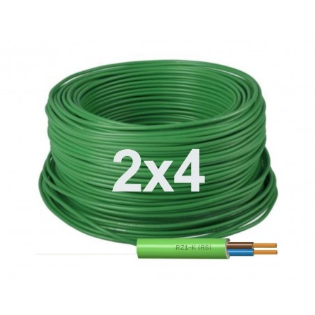 Manguera Eléctrica Flexible Libre de Halógenos 2x4 RZ1-K