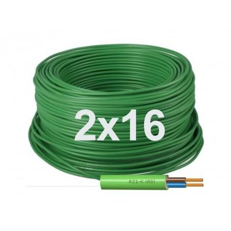 Manguera eléctrica Flexible 2x16 Libre halógenos RZ1-K 1000V.