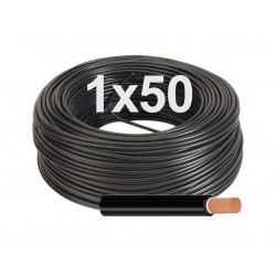 Manguera negra flexible Unipolar 1x50 mm RV-K 1000V.